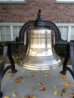 Refinished Bell in front of Town Hall