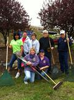 Seymour Lions Club members cleaning up on Earth Day!