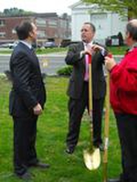 WTNH's Gil Simmons even came out for the Broad Street Park Re-Dedication